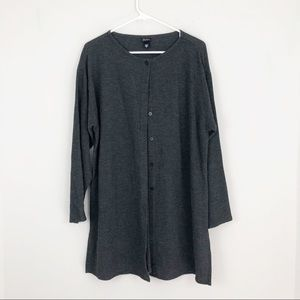 Eileen Fisher waffle knit long cardigan! Medium
